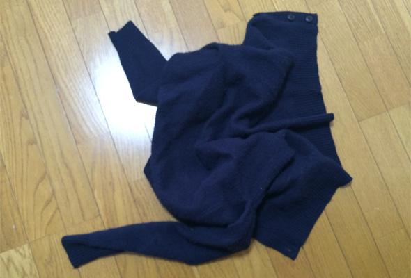 セーター縮み